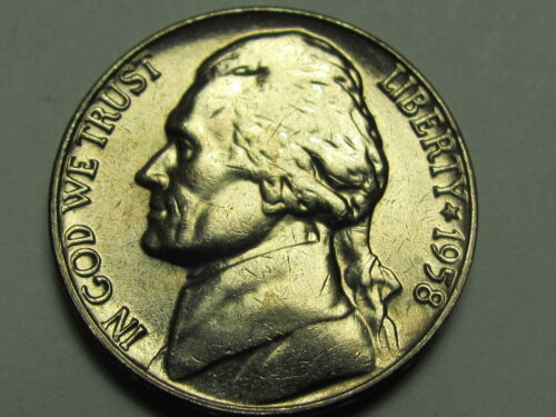 1958 Jefferson 5 cent Uncirculated