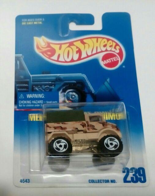 1991 Hotwheel (#-239) Blue card , MERCEDES -BENZ UNIMOG ...