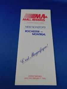 MA-MALL-AIRWAYS-AIRLINE-SYSTEM-TIMETABLE-1986-NORTHEAST-USA-amp-CANADA-NONSTOPS