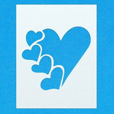 Heart Shape Love Mylar Airbrush Painting Wall Art Crafts Stencil 4
