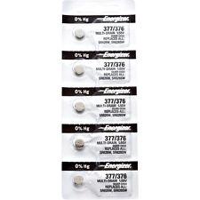 10 x Energizer 377 Watch Batteries, 0% MERCURY equivilate SR626SW