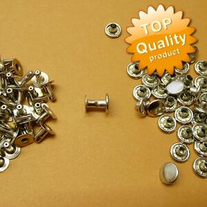 100 Stück Hohlnieten 9 x 8 mm Silber ROSTFREI A17