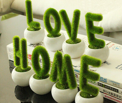 Artificial Plants Flower Trees Home/Love Small Ceramic Potted Shop Accessories