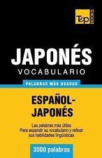 Vocabulario Español-Japonés - 3000 Palabras Más Usadas by Andrey Taranov...