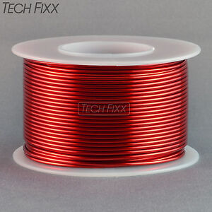 Magnet-Wire-18-Gauge-AWG-Enameled-Copper-100-Feet-Coil-Winding-and-Crafts-Red