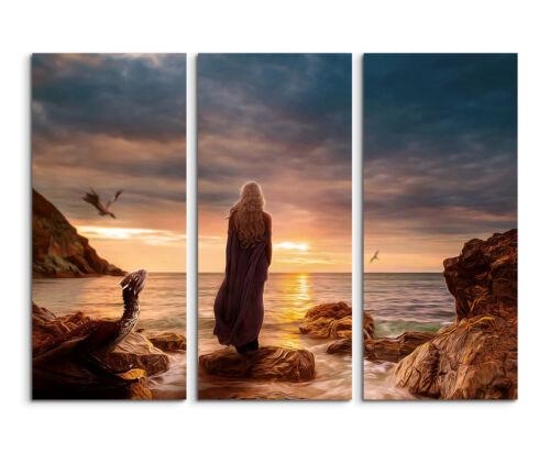Game Of Thrones Daenerys Taragary 2 Wandbild auf Leinwand Keilrahmen 130x90cm