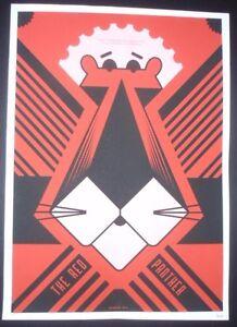 THE-RED-PANTHER-Signed-Cuban-Screenprint-Poster-Salutes-U-S-Cuba-Ties-COMICS-ART