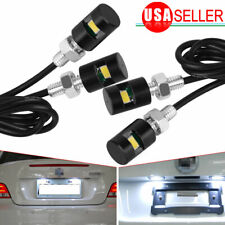4X Universal White Motorcycle Screw SMD LED Bolt Lamp Car License Plate Light