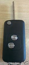 PEUGEOT 106 206 207 307 2 BUTTON FLIP KEY CASE CAR FOB CONVERSION REMOTE BLADE