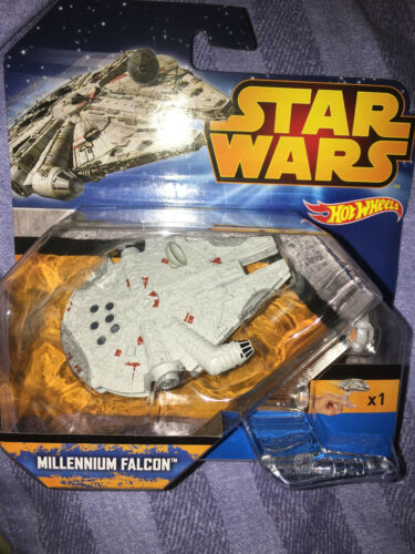 Star wars  Hot wheels millennium falcon figure on stand