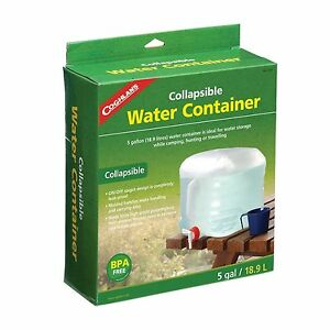 Coghlans-5-gl-gallon-19-liter-collapsible-water-jug-carrier-camping-fold-up-1205