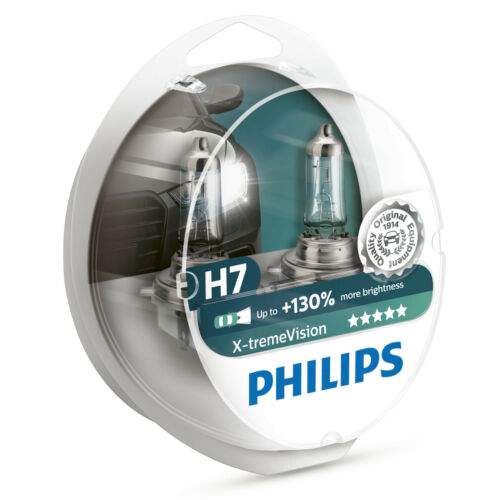 Philips Xtreme Vision 130/% H7 Headlight Bulbs Twin Pack 12972XV+S2