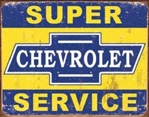 Chevrolet Super Service Novelty TIN SIGN Metal Vintage Garage Shop Wall Ad