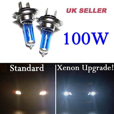 1//2PCS H7 50//100W 12V Xenon Upgrade Gas Halogen Headlight White Light Lamp Bulbs