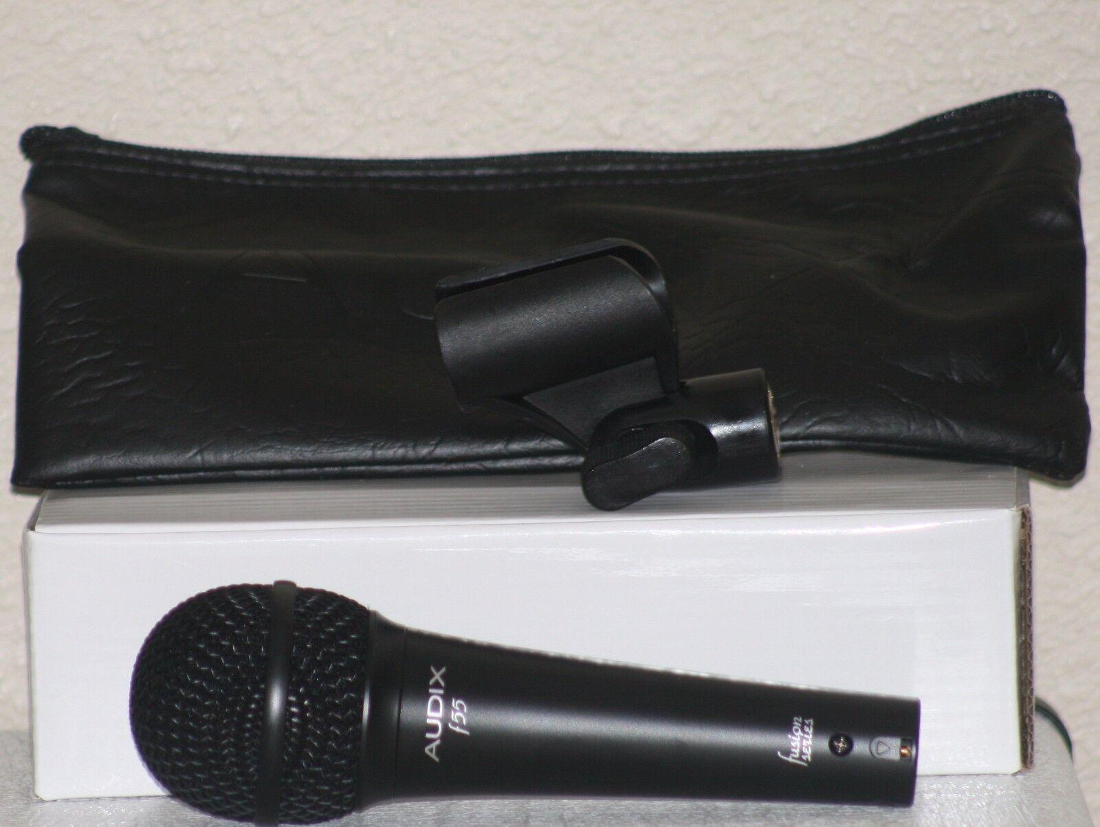 BRAND NEW AUDIX F55 Cardioid Vocal Microphone.w box, Tragetasche,& Mikroclip