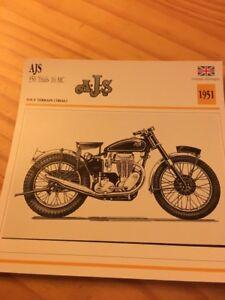 AJS-350-trial-16-MC-1951-Tarjeta-motorrad-Coleccion-Atlas