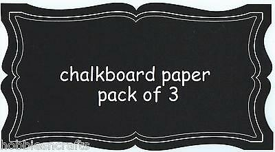 RECOLLECTIONS STICKERS - WRITE ON PAPER FRAME - ORNATE CHALKBOARD FRAMES
