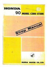 HONDA 90 MODEL C200 CT200 WORKSHOP SERVICE MANUAL