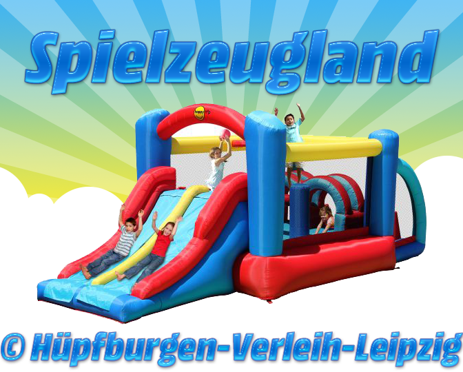Hüpfburg  SPIELZEUGLAND  zu mieten (Tagespreis (Tagespreis (Tagespreis nur Abholung in Leipzig) 837e7e