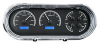 Dakota Digital 63 64 65 Chevy Nova Analog Dash Gauges Black Blue Kit Vhx-63c-nov