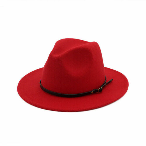 Women Outback /& Hat Cowboy Brim Men Fedora Jazz Panama Felt  Wide Hats