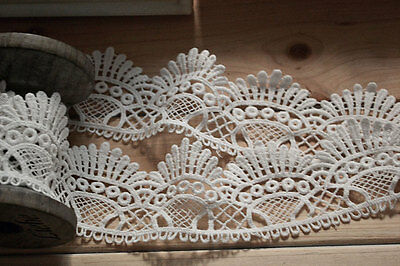 3yards white cotton ribbon ,hollow up lace trim for DIY-LSSC008
