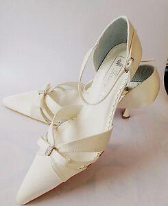 Brautschuhe Sonderpreis Neu Creme Ivory Hochzeitsschuhe Hochzeit