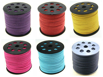 Wholesale 8COLORS 3mm Faux Suede Cord Leather Lace Jewelry Making Beading Thread