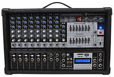 Rockville Rpm109 12 Channel 4800w Powered Mixer 7 Band EQ Effects USB 48v