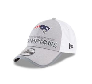 New England Patriots New Era 2017 AFC Champions Locker Room 9Forty ... 038eba0eb23d