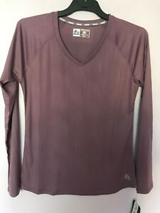 RBX-Active-wear-Athletic-Gym-Long-Sleeve-V-Neck-Top-Shirt-Lilac-NWT