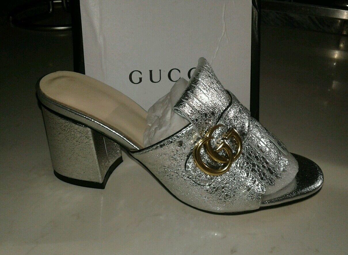 produttori fornitura diretta donna donna donna metallic summer mule scarpe, medium heel, Dimensione 8-8.5  acquistare ora
