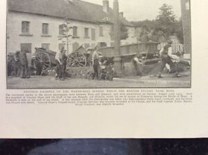 m17c6 ephemera ww1 picture british barricades mons 1914 - Leicester, United Kingdom - m17c6 ephemera ww1 picture british barricades mons 1914 - Leicester, United Kingdom
