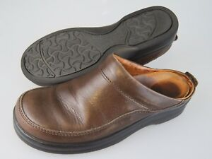 FOOTPRINTS Brown Leather Ashby Slip On Mules Shoes Women's US 6 EU 37 Narrow