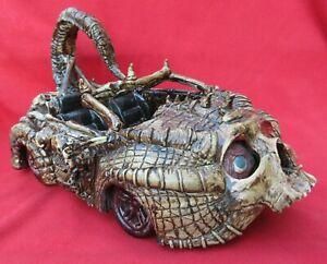 Mexican-Outside-Folk-Art-Outrageous-amp-Bizarre-Multi-Skeleton-Scorpion-Car