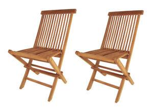 Détails sur Pack Double Teck Modena Chaise Pliante Bois pour Jardin  Terrasse / Balcon