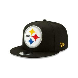 Pittsburgh-Steelers-New-Era-9Fifty-XL-Logo-Threads-Adjustable-Snapback-Hat-NFL