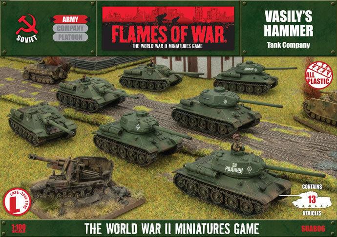 15mm WWWWII USSR VASILY S HAMMER Flames of War Europe SUAB04 FoW Världskriget Ryssland