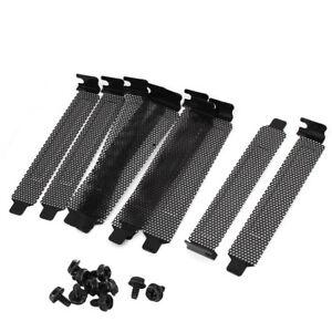 10x-schwarz-perforiert-RS-PCI-Expansion-Cover-Slotblen-Schrben-Hot-Sale