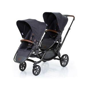 ABC Design – passeggino carrozzina Turbo 4 collezione 2019 (graphite grey, passeggino e navicella)