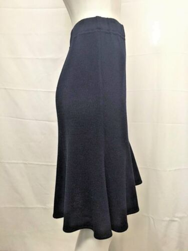 NEW St John Collection 2 8 10 12 Flare Skirt Black Navy Santana Pull On Wool