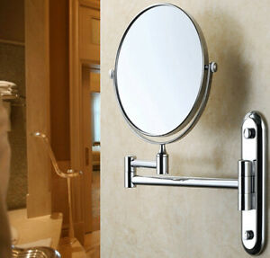 2-Double-Side-Swivel-Beauty-Makeup-Mirror-10X-Magnification-Wall-Mount-Mirrors