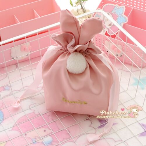 Swimmer JP bunny drawstring bags cute kawaii harajuku pom pom bunny ears japan