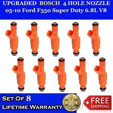 BOSCH 4-HOLE UPGRADE FUEL INJECTORS 8X for 1989-1995 CADILLAC 4.5L 4.6L 4.9L