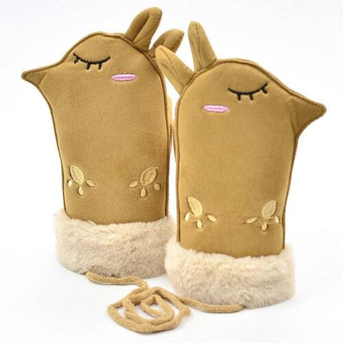 Lovely Cartoon Winter Thicken For Boys Girls Cute Warm Mittens Gloves for Kids T