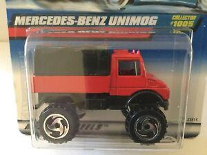 Hot Wheels UNIMOG Mercedes Benz - 1999 #1005 - Red, METAL ...