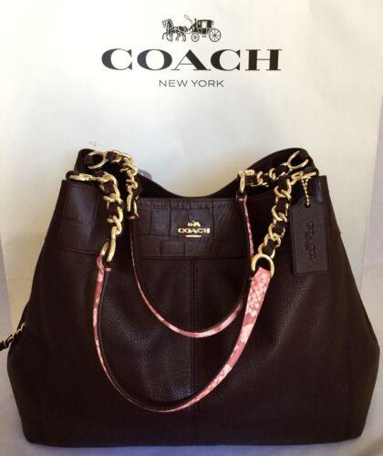 Nwot Lexy Handtasche F25944 Oxblood 191202424449 Multi Im Kettenriemen Coach Exotic Mit Leather 7nvqA4wH