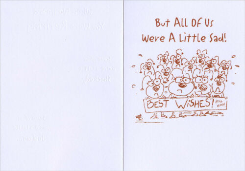 Shocked Worker Bees Funny Retirement Congratulations Card from All of Us
