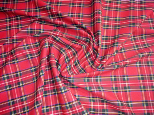 """Flat Weave 100/% Cotton Tartan Fabric Material Double Sided 147cm 58/"""" wide"""