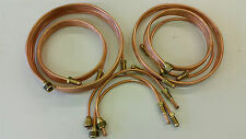 "Land Rover SERIES 2a/3 Copper Brake Pipe SET 88"" NEW with Brass Fittings"